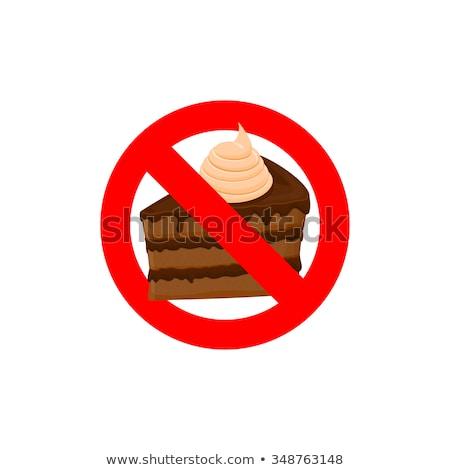 stoppen · zoet · voedsel · dieet · voedsel · fitness · gezondheid - stockfoto © popaukropa