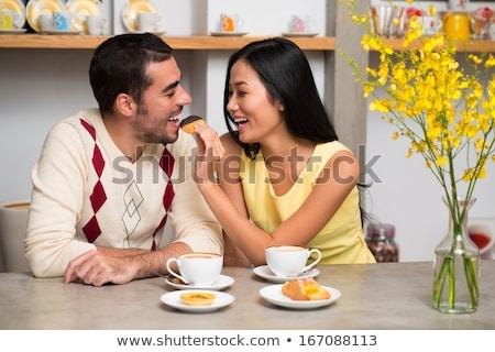 Vrolijk vrouw knap vriendje jonge vrouw Stockfoto © majdansky