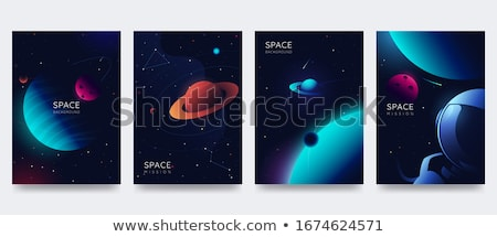 Astronomie affiche design planètes satellite illustration Photo stock © bluering