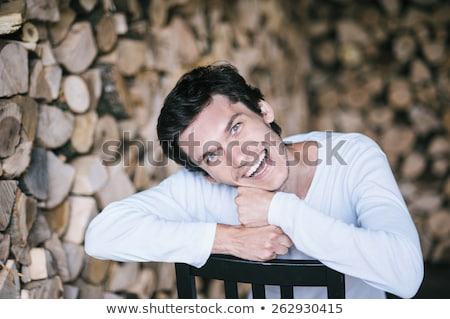 Man leaning back on tree Stock photo © IS2