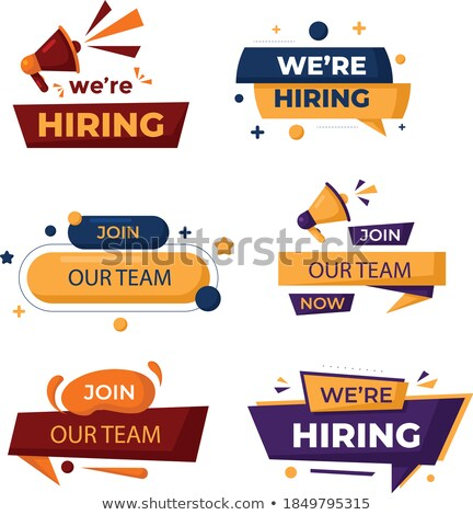 We are hiring. Illustration Design graphic. Vintage ribbon Stock photo © alexmillos