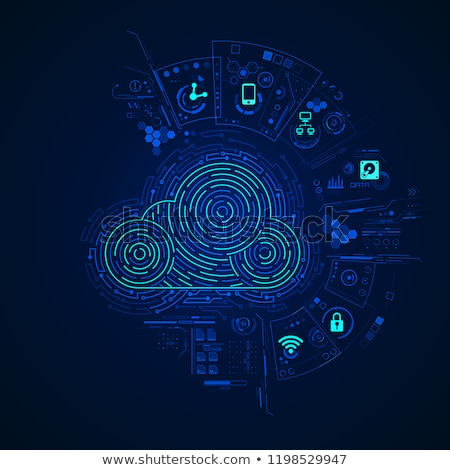 Absztrakt felhő digitális interfész globális internet Stock fotó © alexaldo