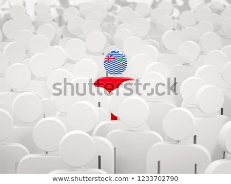Man with flag of british indian ocean territory in a crowd Stock photo © MikhailMishchenko