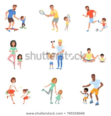 sorridente · moço · jogar · futebol · isolado · ilustração - foto stock © tiKkraf69
