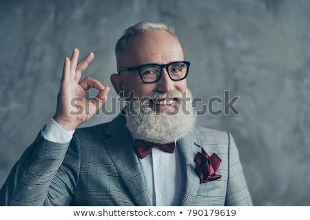 üzletember készít kézmozdulat középső rész férfi beteg Stock fotó © wavebreak_media