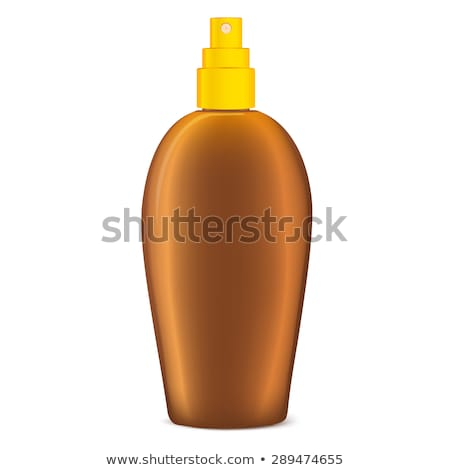 Opalenizna oleju butelki odizolowany biały kroplami wody Zdjęcia stock © Bozena_Fulawka