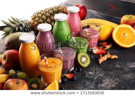 gyümölcslé · smoothie · gyümölcs · háttér · nyár · tej - stock fotó © M-studio