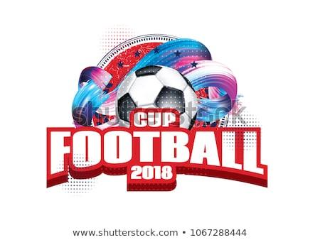Russia football tournament logo Stock photo © romvo