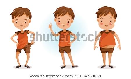 Excesso de peso saudável peso ilustração corpo Foto stock © bluering