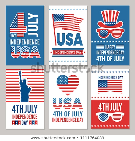 independence day of the usa vector illustration fourth of july design with flag on blue background stock photo © articular