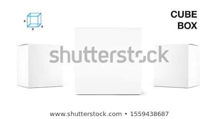 Stock photo: Open box, white cardboard, vector container