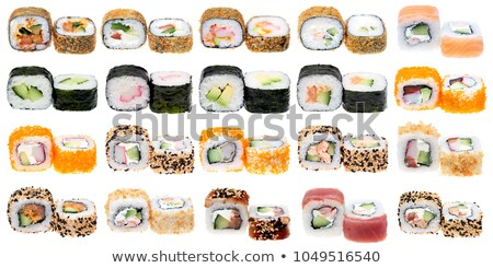 Various sushi rolls in a row Stock photo © Cipariss