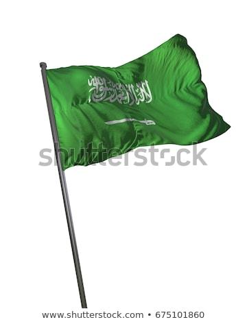 Odizolowany Arabia Saudyjska banderą 3D realistyczny Zdjęcia stock © SaqibStudio
