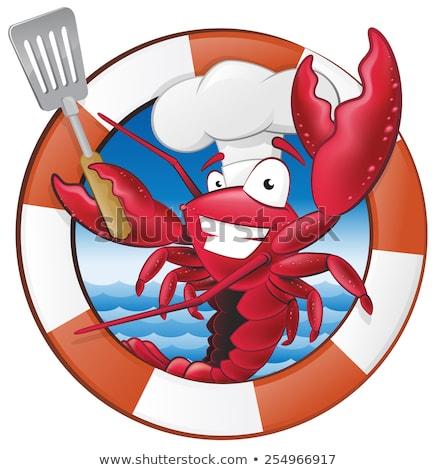 Chef Cartoon ilustración rojo animales Foto stock © cthoman