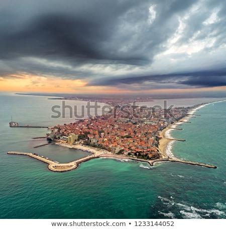 Gyönyörű tenger kilátás Bulgária tengerpart égbolt Stock fotó © nenovbrothers