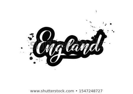 England art abstract hand lettering and doodles elements background. Vector illustration for colorfu stock photo © Linetale