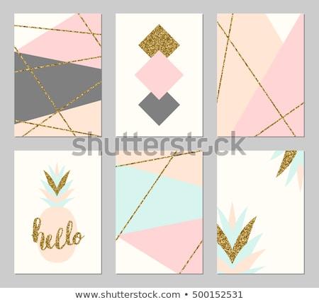 Vecteur couleur glitter carte de vœux design rose Photo stock © fresh_5265954