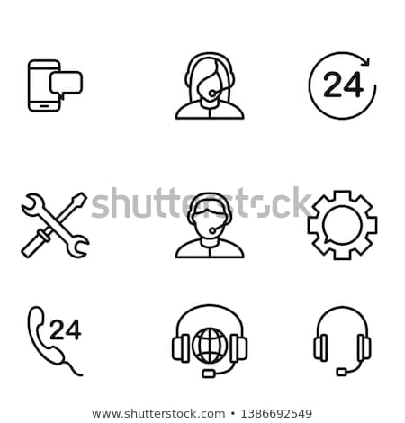 ikona · wsparcie · proste · zestaw - zdjęcia stock © makyzz