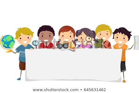 Enfants géographie bannière illustration monde Photo stock © lenm