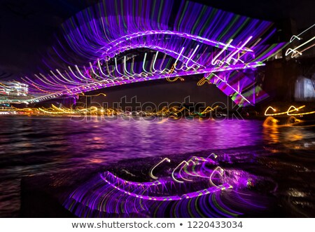 lashes   sydney harbour bridge looking very glamorous abstract image stock photo © lovleah