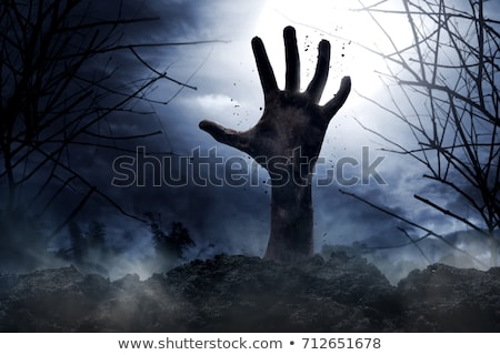 Hand buried into cloud Stock photo © ra2studio