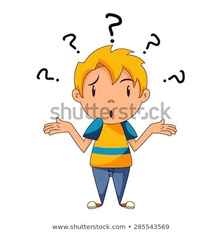 Cartoon chłopca ilustracja dziecko dziecko pytanie Zdjęcia stock © cthoman