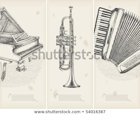 Accordeon muziek merkt illustratie muziek kunst pad Stockfoto © colematt