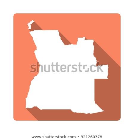 вектора икона Ангола карта символ дизайна Сток-фото © blaskorizov