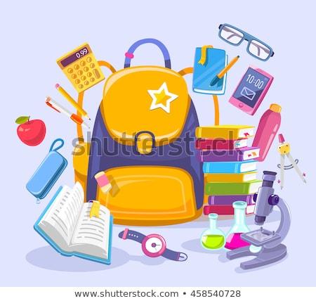 Back to School Satchel Poster Vector Illustration Stock photo © robuart