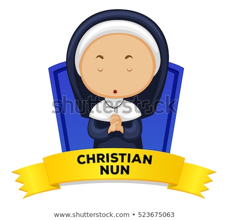 Wordcard with occupation christian nun Stock photo © colematt