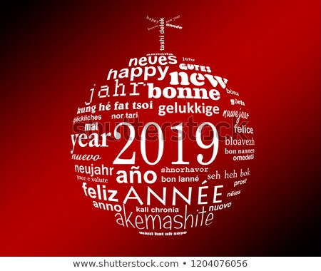 2019 happy new year card from all the world stock photo © daboost