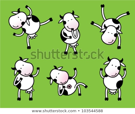 Drunk Cartoon Cow Stock photo © cthoman
