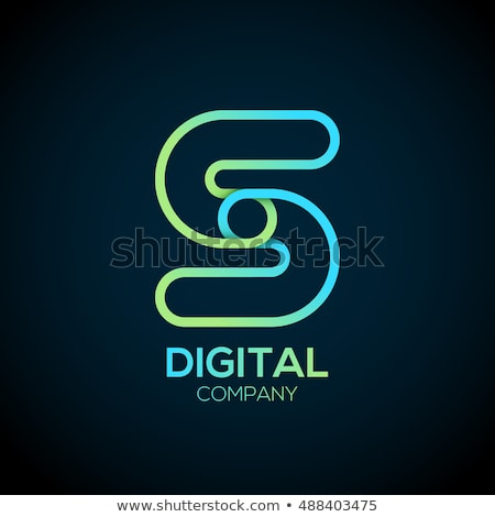 green chain icon vector link logo Stock photo © blaskorizov