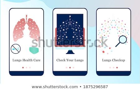 App interfejs szablon patrząc bakteria Zdjęcia stock © RAStudio