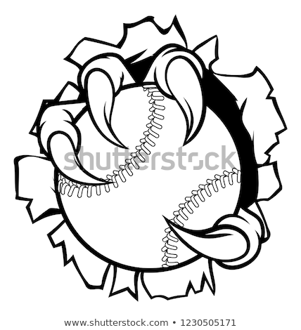 Baseball Ball Eagle Claw Talons Tearing Background Stock photo © Krisdog
