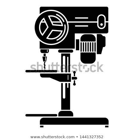 electric tools black silhouettes stock photo © biv