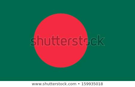 Bangladeş bayrak beyaz büyük ayarlamak kalp Stok fotoğraf © butenkow
