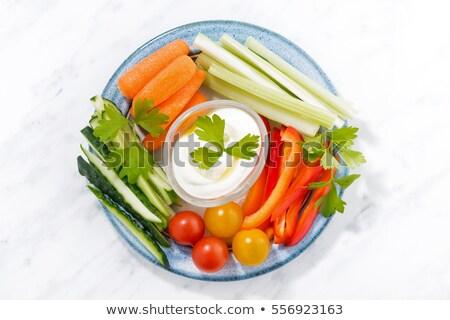 Verse groenten stick gezonde voorgerechten top Stockfoto © furmanphoto