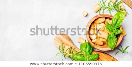Smoked braided cheese  Stock photo © grafvision