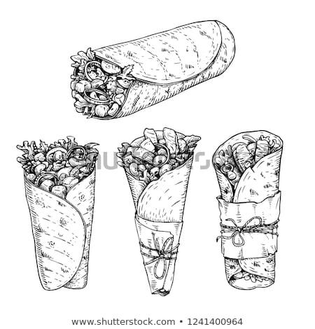 Tortilla zöldségek party étel mexikói taco nachos Stock fotó © mythja