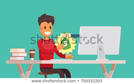 Man freelancer get money Stock photo © netkov1