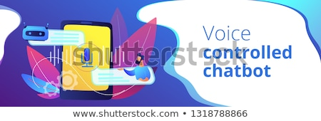 Chatbot voice controlled virtual assistant concept banner header. Stock photo © RAStudio