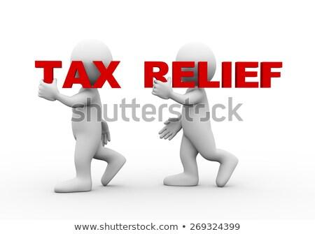 3d man woord belasting 3D Stockfoto © ribah