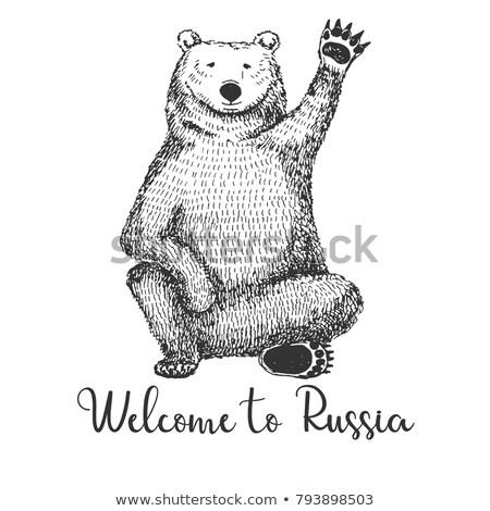 эскиз несут текста приветствую Россия Сток-фото © Arkadivna
