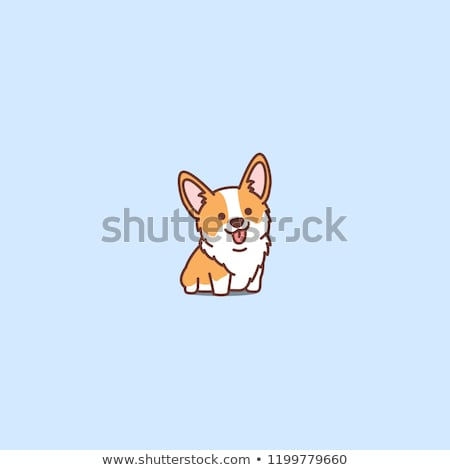 happy puppy cartoon animal character stock photo © izakowski