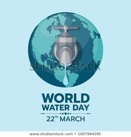 Világ víz nap környezet törődés illusztráció Stock fotó © cienpies