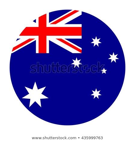 Australia flag on round badge Stock photo © colematt