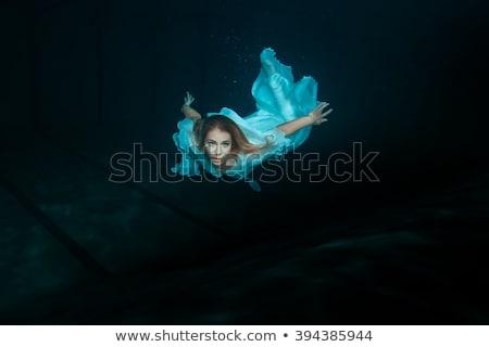 Deniz kızı yüzme okyanus örnek deniz arka plan Stok fotoğraf © colematt