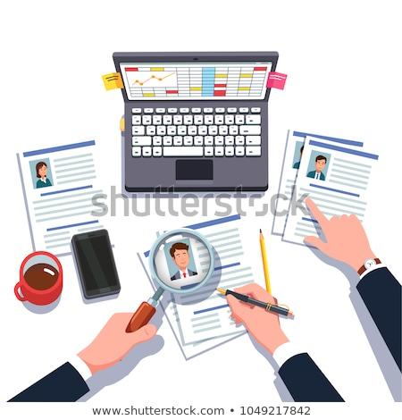 recrutamento · ilustração · gestão · humanismo · recurso · negócio - foto stock © pikepicture