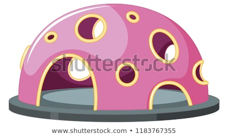 Pembe tırmanma oyun alanı örnek spor Stok fotoğraf © colematt